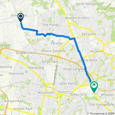 Route to 391B Old Windsor Road, Winston Hills