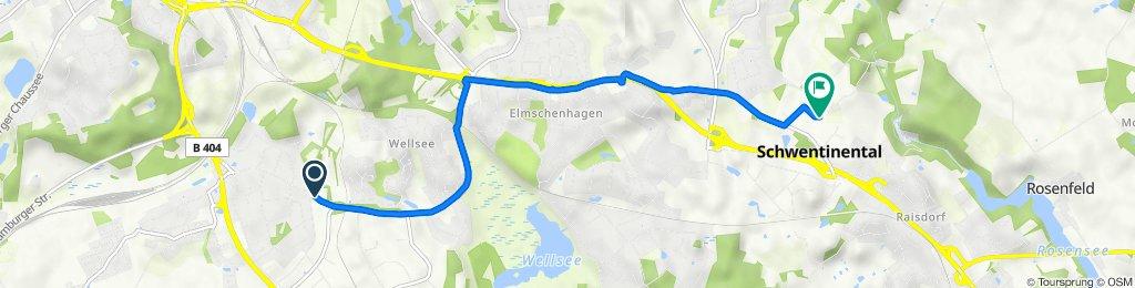 Wellseedamm 21, Kiel nach Mühlenkoppel 8, Schwentinental