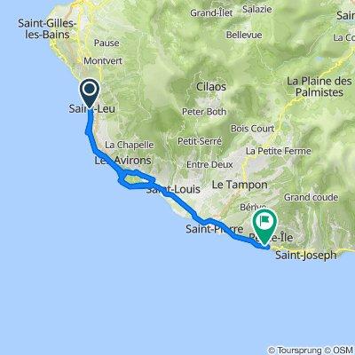 Itinéraire à partir de Jetée de Saint Leu, Saint-Leu
