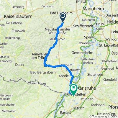 RLP14: Deidesheim - Neuburg a.Rhein 84km 570hm