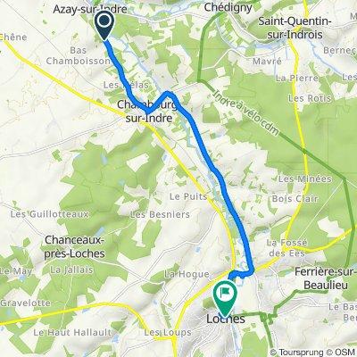 De D17, Azay-sur-Indre à Rue Saint-Antoine 4, Loches