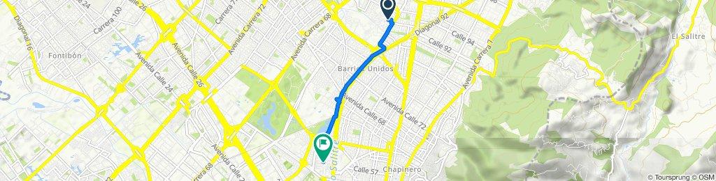 De Calle 93a 57a24, Bogotá a Carrera 36a 57-25, Bogotá