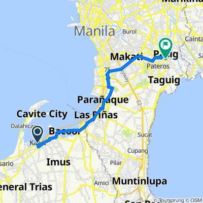 Manila-Cavite Road, Kawit to E. Jacinto Street, Pasig City