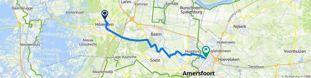 Noorderweg 94, Hilversum naar Erasmusstraat 29, Amersfoort