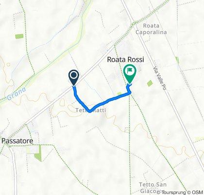 Da Via Rocca / Via Tetto Ratti, Cuneo a Via Antica di Busca 122a, Roata Rossi