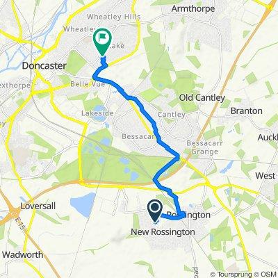 Victoria Lane, New Rossington, Doncaster to 5 Warren Close, Doncaster