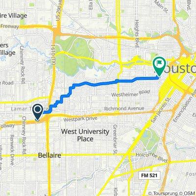 3535 Sage Rd, Houston to 1401–1477 Victor St, Houston