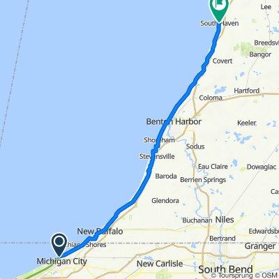 100–174 E Michigan Blvd, Michigan City to 527 Phoenix St, South Haven