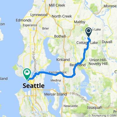17624 199th Pl NE, Woodinville to 203 W Thomas St, Seattle