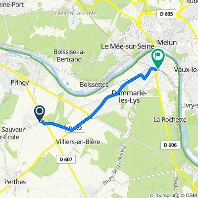 Itinéraire à partir de Rue de La Ferté-Alais, Boissise-le-Roi