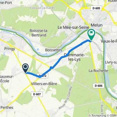 Itinéraire à partir de Rue de La Ferté-Alais, Villiers-en-Bière