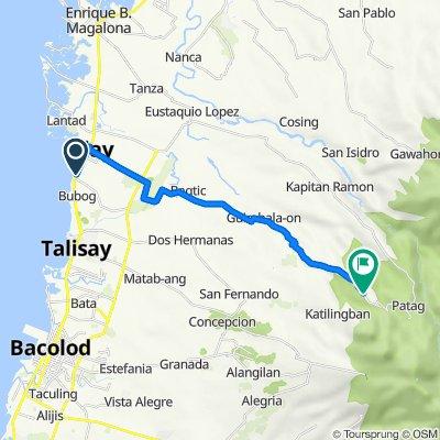 Rizal Street, Silay City to Silay-Lantawan Road, Silay City