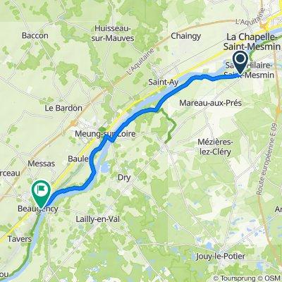 De 754 Rue de Verdun, Saint-Hilaire-Saint-Mesmin à 16–18 Quai Dunois, Beaugency