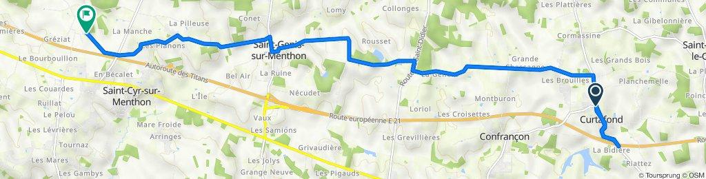 De Chemin de Montrevel, Curtafond à Les Feuilles, Saint-Cyr-sur-Menthon