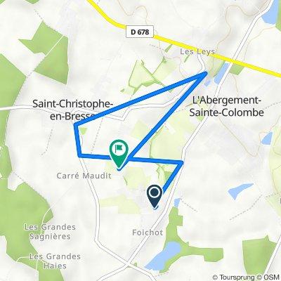 De 3B Rue du Champ Bazin, L'Abergement-Sainte-Colombe à 7 Rue de Foichot, L'Abergement-Sainte-Colombe