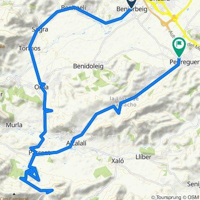 Route 14 : Sagra-Orba-Parcent- Col Rates-Pedreguer