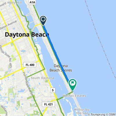South Atlantic Avenue 471, Daytona Beach to South Atlantic Avenue 3425, Daytona Beach