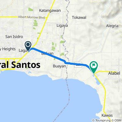 Lagao-Ligaya Route