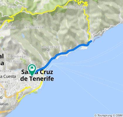 De Calle Benavides, 14, Santa Cruz de Tenerife a Calle Anselmo J. Benítez, 38, Santa Cruz de Tenerife