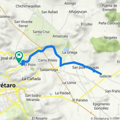De Avenida La Vista 1037, Santiago de Querétaro a Avenida La Vista 1037, Santiago de Querétaro