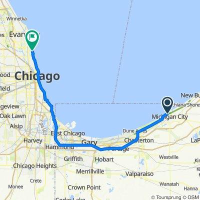 100–174 E Michigan Blvd, Michigan City to 5200 N Lake Shore Dr, Chicago