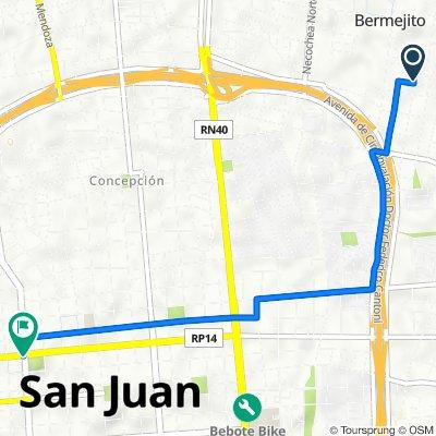 De Libertad, Santa Lucía a Avenida Libertador General San Martín 402–500, San Juan