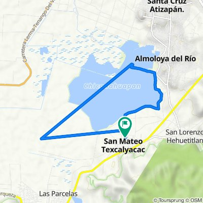 De Calle Manuel Molina 23, San Mateo Texcalyacac a Calle Manuel Molina 23, San Mateo Texcalyacac