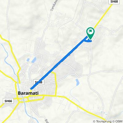 Maharashtra Industrial Development Corporation Area, Baramati to Maharashtra Industrial Development Corporation Area, Baramati
