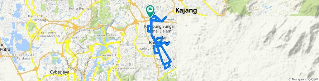 40KM ride around Kajang