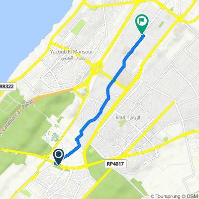 De Rocade de Rabat, Rabat à Avenue Allal El Fassi, Agdal Riyad