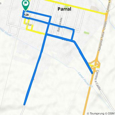 De San Martín 30, Parral a San Martín 30, Parral