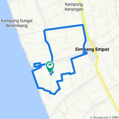 Jalan Sungai Padang-sungai Bahru, Simpang Ampat to Jalan Sungai Padang-sungai Bahru, Simpang Ampat