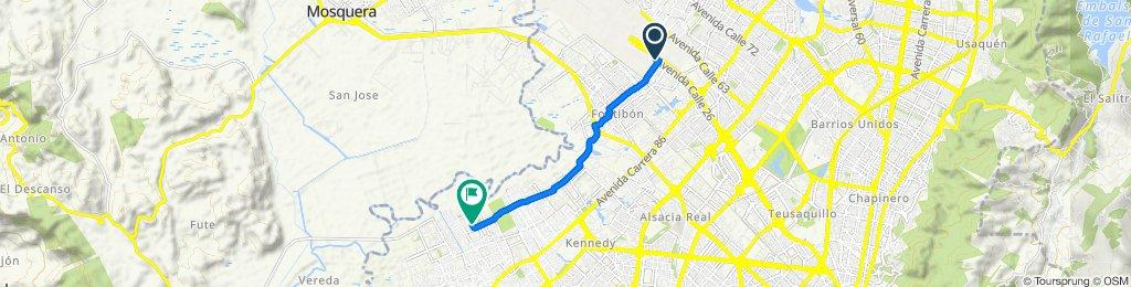 De Avenida Calle 26 10335, Bogotá a Calle 54c Sur #97-20, Bogotá
