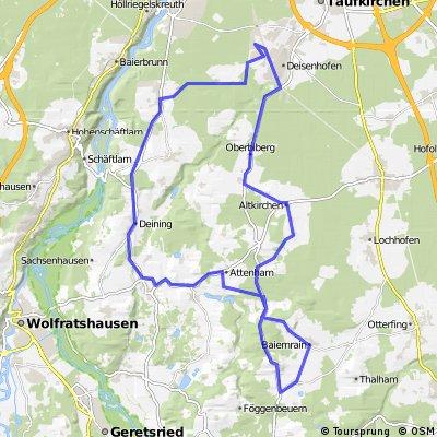 Münchner Süden, kleine Rennrad Runde