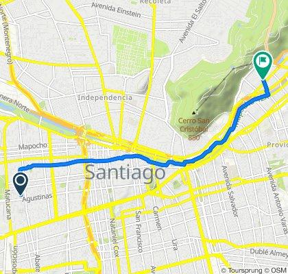De Maipú 256, Santiago a Avenida Pedro de Valdivia Norte 269, Providencia