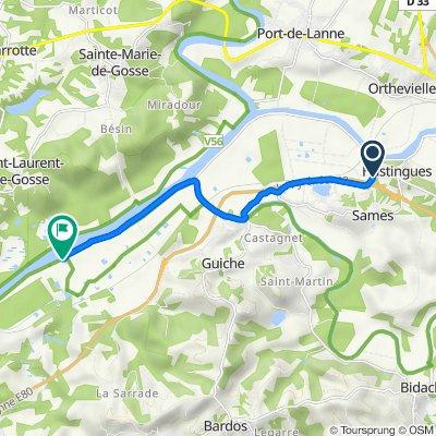 D253, Sames to 380 Route de l'Adour, Guiche