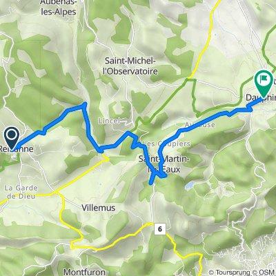 Reillane Dauphin oude route