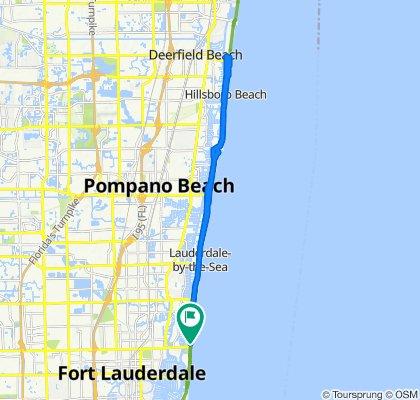 De A1A/Birch Park, Fort Lauderdale a A1A/Birch Park, Fort Lauderdale