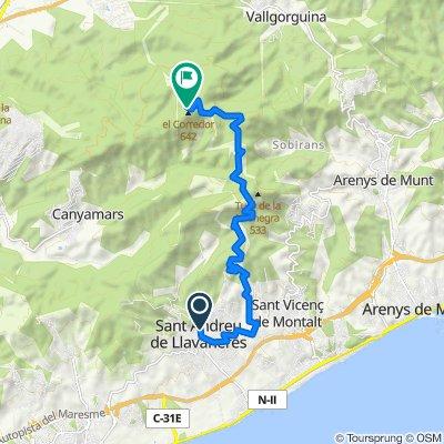 De Carrèr Maresme, 1, Sant Andreu de Llavaneres a Ve del Far, 15, Dosrius