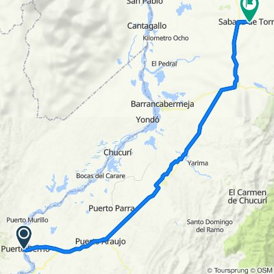 Ruta 3 - Puerto Berrío a Sabana de Torres