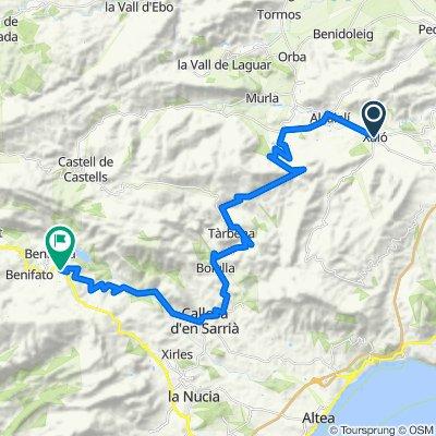 Route 21 : Xalo- Col Rates-Tarbena-Callosa-Guadalest