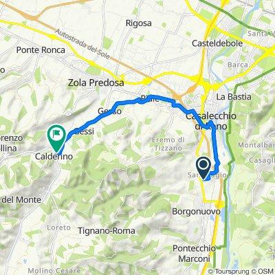 Da Via della Resistenza 14, Casalecchio di Reno a Piazza della Repubblica 9/F, Calderino