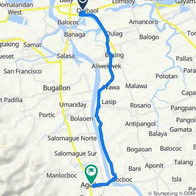 Binmaley-Lingayen via Quibaol to Aguilar