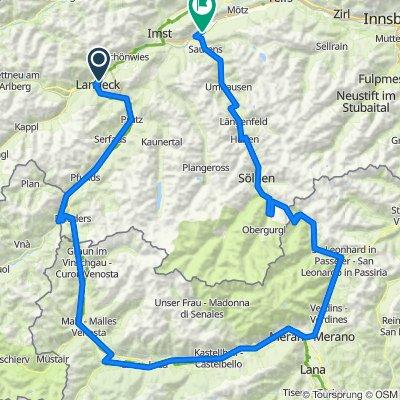 Reschen-Timmelsjoch 258km, 4310 HM