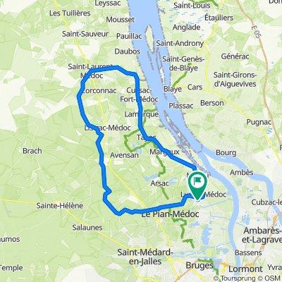 boucle Senejac/ST raphael/Castelnau/ST laurent/cussac/macau