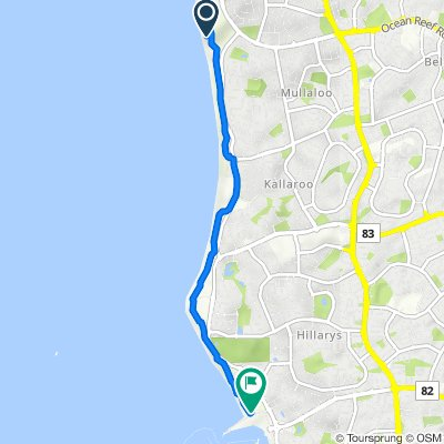 Route to Northside Drive, Hillarys