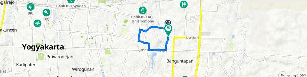 Jalan Arimbi 399B, Kecamatan Banguntapan to Jalan Babadan No. 423 Rt.15, Kecamatan Banguntapan