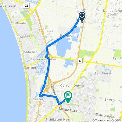 208 Bangholme Road, Bangholme to 30 Shearwater Drive, Carrum Downs