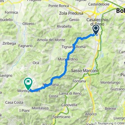 Da Via della Resistenza 24, Casalecchio di Reno a Via Valle d'Aosta 13/A, Montepastore