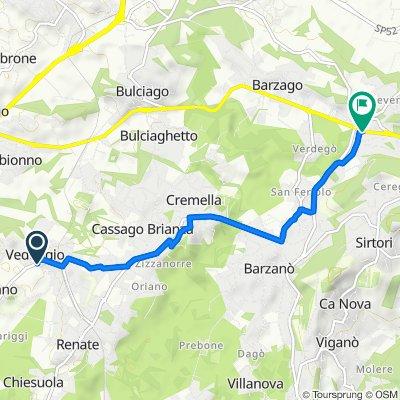 Da Via Volta 9A, Veduggio con Colzano a Via Como 4, Bevera di Sirtori